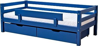 Hoppekids Absturzsicherung für Junior-/Kinder-/Jugendbett, 4 Farben Liegefläche 70 x 160 + 90 x 200 cm, Holz, blau, 100 x 5.2 x 22.5 cm