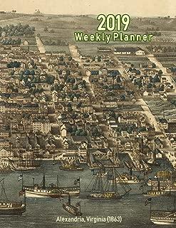 2019 Weekly Planner: Alexandria, Virginia (1863): Vintage Panoramic Map Cover