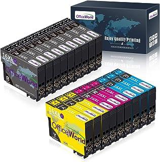 OfficeWorld 16XL Alta Capacidad Cartuchos de Tinta Compatible para Epson 16 con Epson Workforce WF-2630WF WF-2630 WF-2510 ...