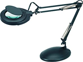 Full Spectrum Natural Daylight Effect Magnifier Task Lamp with 3 Diopter Glass Lens and Desktop or Clamp-On Mounting Options