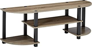 FURINNO Turn-S-Tube TV Entertainment Center, French Oak Grey