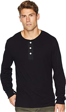 Long Sleeve Army Henley