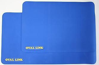 滑り止めマット オーバルリンクLサイズ 1枚 カラー:ブルー 抗菌・防カビ加工 青森ひばの香り