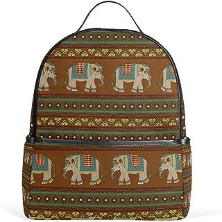 Ethnic Elephant Tribal Stripe Backpack for Boys Girls School Bookbag