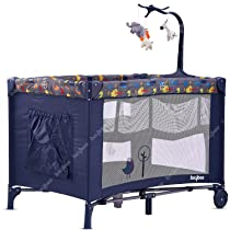 Baybee Pack N Play Baby playpen Playard – Cradle for Baby Smart Folding Baby Cot Portable Travel Baby Bed Cot – Convertible Crib