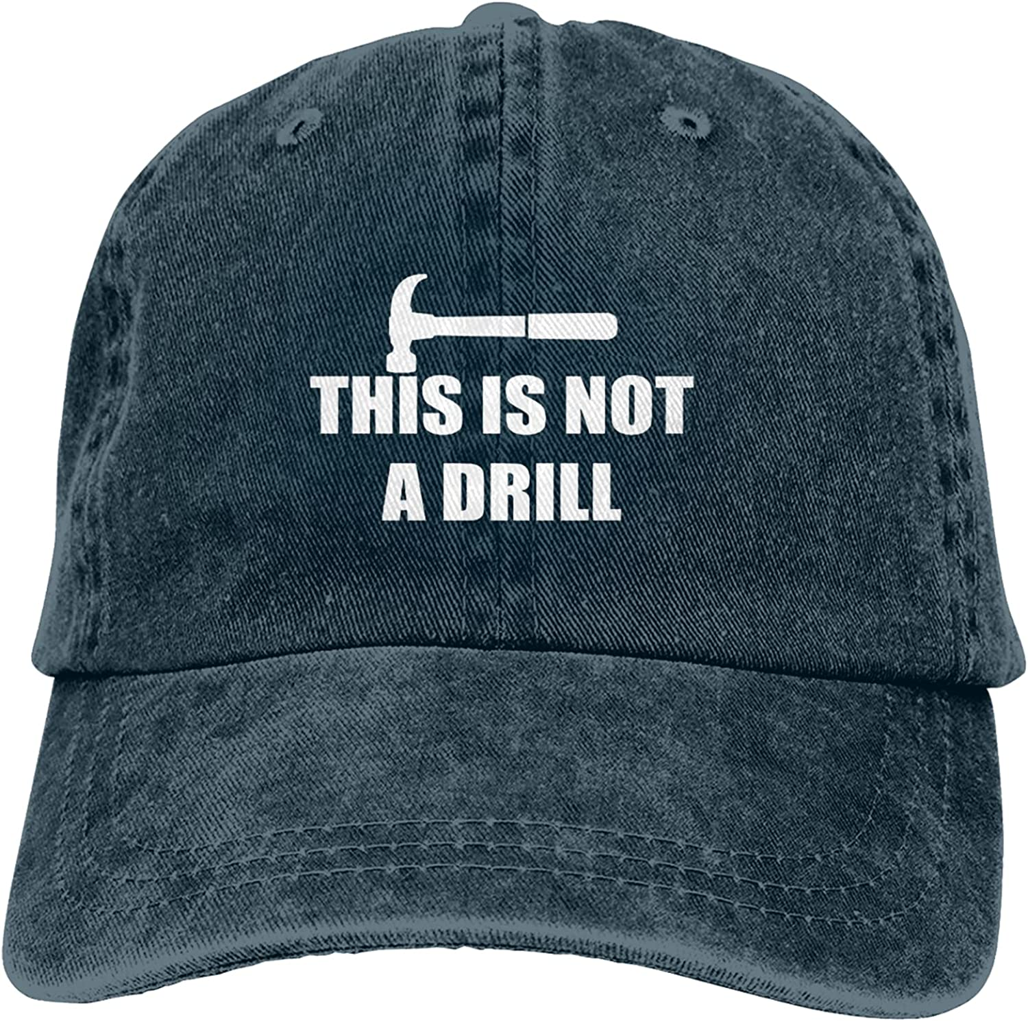 This is Not A Drill Hat, Adjustable Baseball Cap Washed Cotton Trucker Black Hat