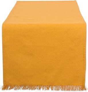 DII CAMZ37584 HVYW FRINGED TR SLD. 14X72, 14 x 72, Solid Pumpkin Spice