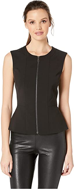 """Jeslyn"" Sleeveless Top with Zipper Front"