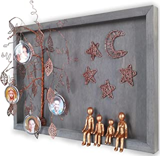 Family Picture Frame Collages for Wall 8th 19th Bronze Wedding Anniversary Willow Tree Family of 4-Figurines 8 19 21 Year Personalized Gifts for In-laws Metal Wall Charmers Wife Her