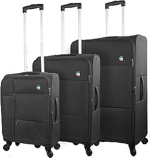 Mia Toro Italy Adige Softside Spinner Luggage 3pc Set, Black, One Size