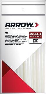 Arrow Fastener MG24-4 All Purpose Mini Glue Sticks, 4-Inch, 24-Pack, Clear