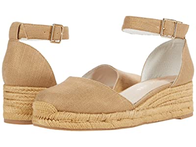 Jack Rogers Palmer Closed Toe Mid Wedge (Platinum) Women