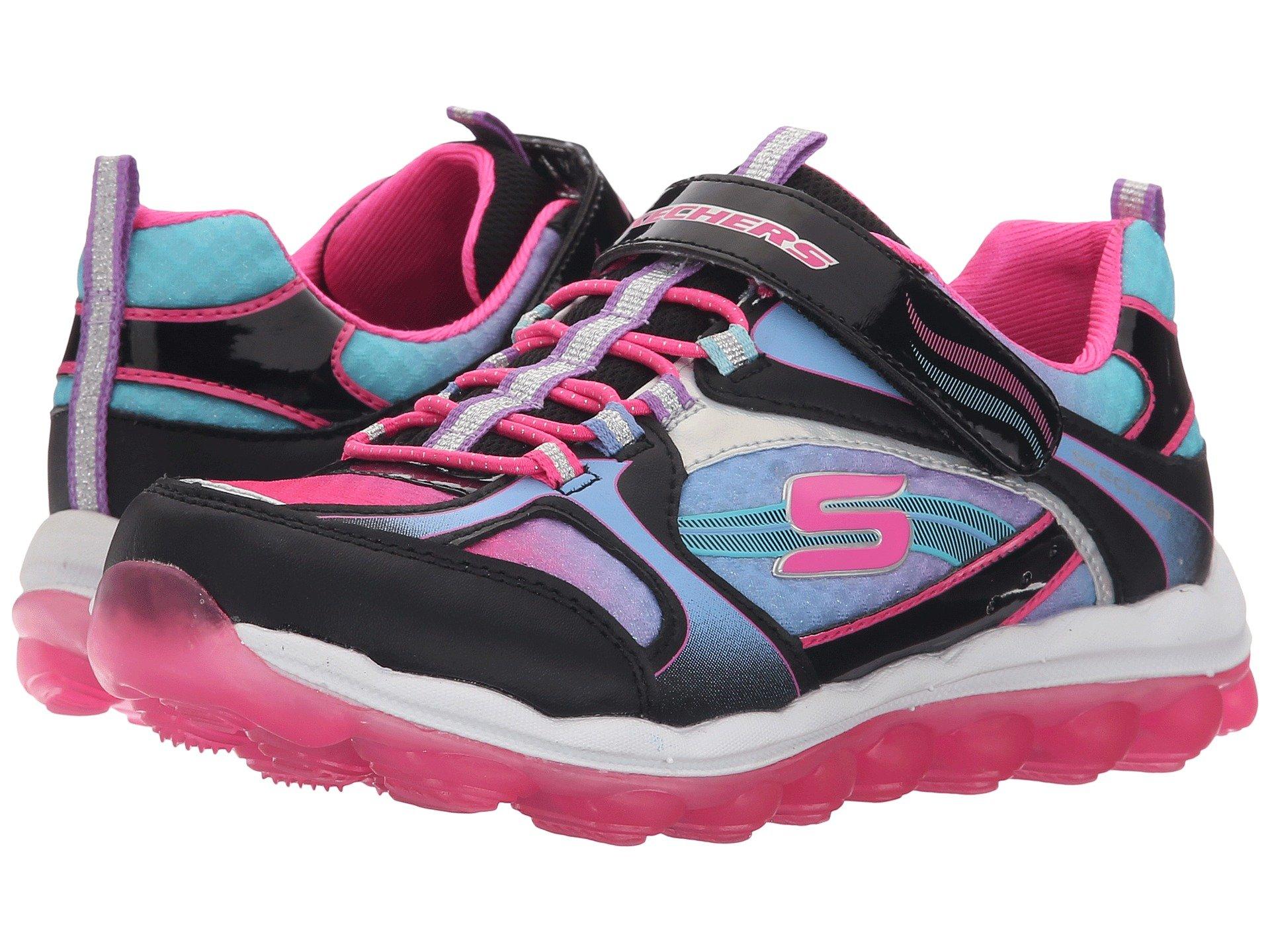 Skechers Black Pink Memory Foam Shoes Girls Kids Amazon
