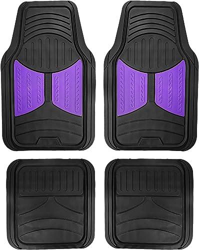 FH Group F11313PURPLE Rubber Floor Mat (Purple Full Set Trim to Fit Mats)