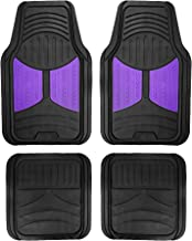 FH Group F11313PURPLE Purple Rubber Floor Full Set Trim to Fit Mats