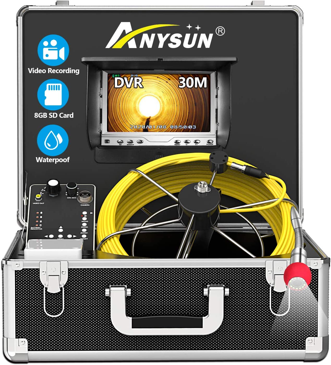 Pipe Sewer Inspection Special price Camera Anysun 30m Pi IP68 Our shop OFFers the best service Drain Waterproof