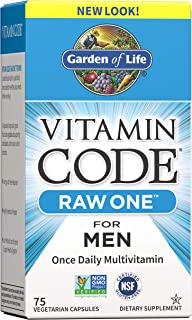 Garden of Life Multivitamin for Men, Vitamin Code Raw One for Men - 75 Capsules, Once Daily Mens Vitamins plus Fruit, Vegg...