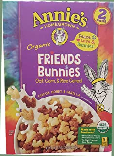 Annie's Homegrown Organic Friends Bunnies Cocoa, Honey and Vanilla Cereal 2 Bags 27.25 Ounce Net