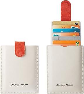 RFID Credit Card Holder Wallet Leather Minimalist Slim Wallets Front Pocket Wallet for Men Women