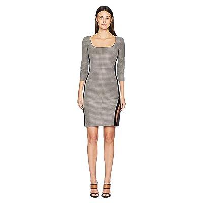 Boutique Moschino Long Sleeve Dress (Checkered) Women