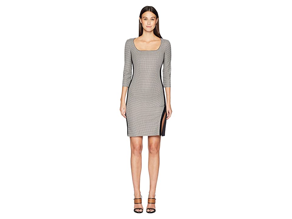 Boutique Moschino Long Sleeve Dress (Checkered) Women