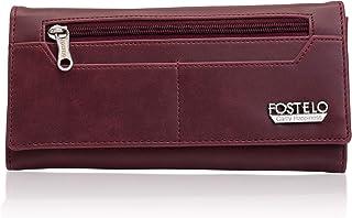 Fostelo Women's Versatile Satin 2 Fold Wallet (Maroon)