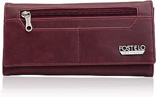 Fostelo Women's Versatile Two Fold Wallet (Maroon)