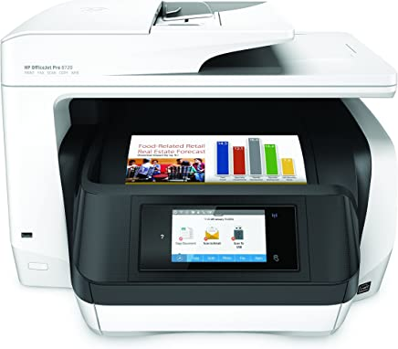 $294 Get HP OfficeJet Pro 8720 All-in-One Wireless Printer with Mobile Printing, HP Instant Ink & Amazon Dash Replenishment ready - White (M9L75A) (Renewed)