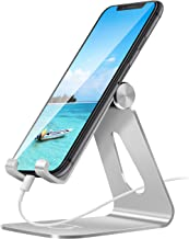 Gritin Phone Stand, Adjustable Phone Holder Stand Dock Holder - Full Aluminum Desktop Holder Stand for Phone 11 Pro XR X XS 8 7 6 Plus, Nintendo Switch, HUAWEI, Galaxy S5 S6 S7 S8 S9 S10 and more