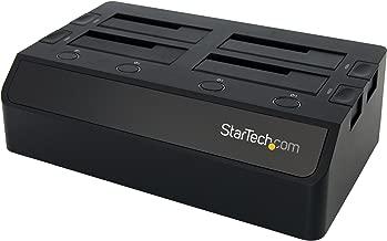 StarTech.com USB 3.0 to 4-Bay Hard Drive Docking Station w/UASP & Dual Fans - Hot Swap 2.5/3.5in SSD/HDD Dock - SATA 6 Gbps (SDOCK4U33)