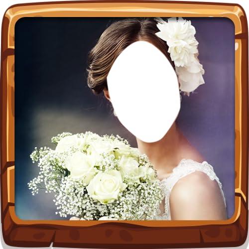 Peinado de flores de boda
