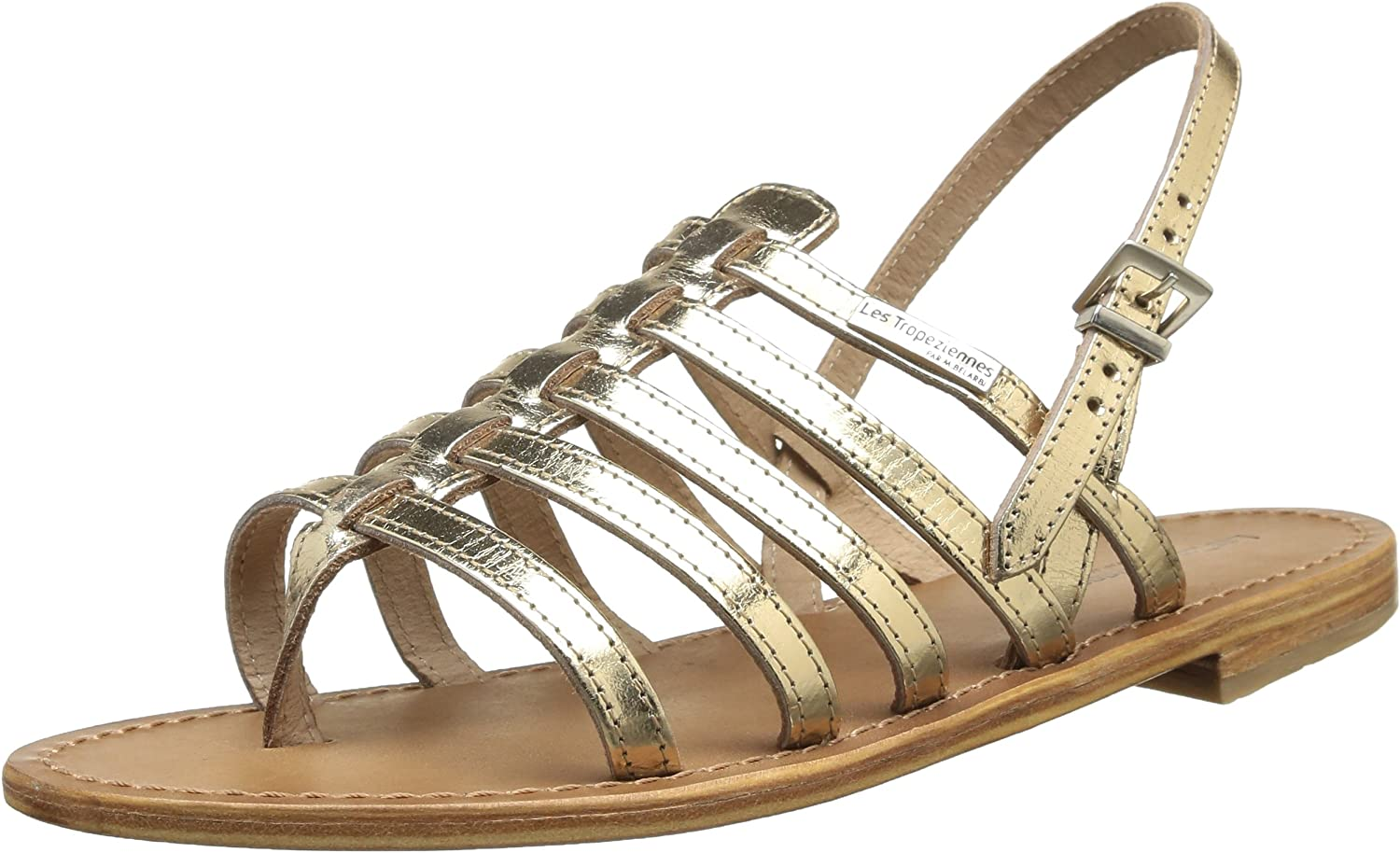 Womens Herisson Leather Strappy Gladiator Sandals