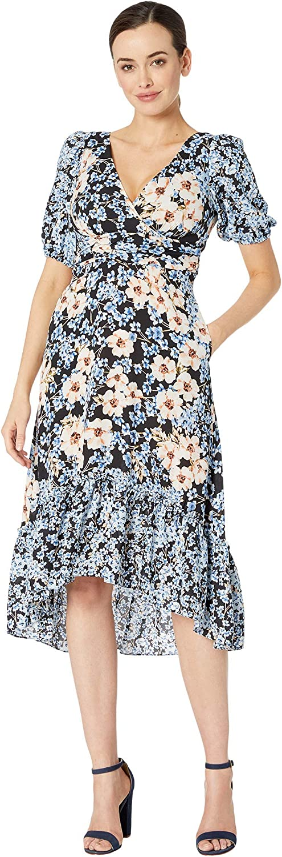 Donna Morgan Women's Bubble Sleeve High-Low Dress