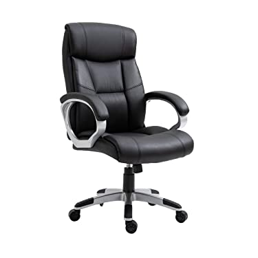 Halter Office Chair with Padded Armrests and Lumbar Support, Ergonomic Design, Trendy Executive Chair with Sturdy Chrome Base, Comfortable Task, Computer, Gaming Chair