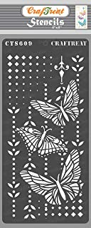 Craftreat Butterfly Stencils for Craft and Art - Butterfly Magic - 4X8 Inches - Reusable DIY Stencils - Butterfly Stencils...