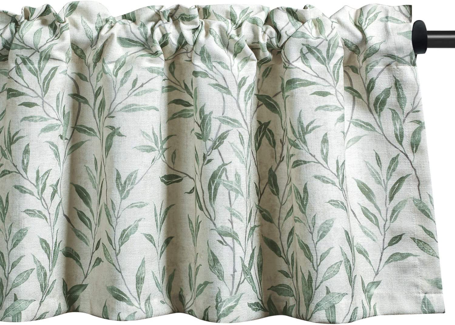 Super Special SALE held VOGOL Curtain Valances Leaves Printed Window Industry No. 1 Curtains Meticulous