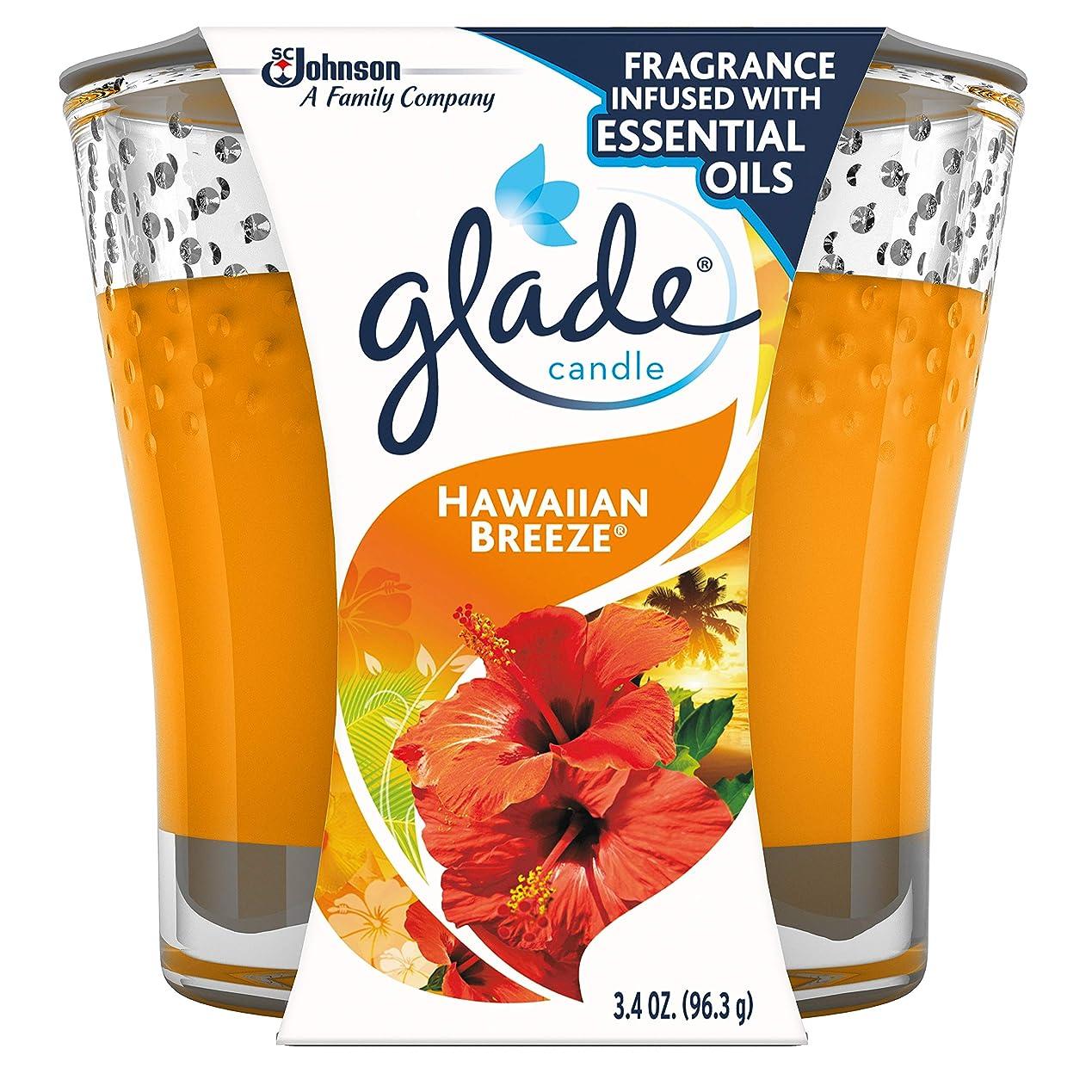 アーサーコナンドイルアブセイ単調なGlade Jar Candle Air Freshener, Hawaiian Breeze, 3.4 Ounce by Glade