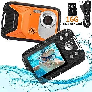 PELLOR Cámara de Fotos para Niños 2.8 LCD HD Recargable Mini Camara Infantil Impermeable cámara Digital para niños PortátilSelfie Videocamera para niña con Tarjeta de 16GB TF
