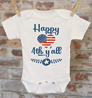 4th of July Independence Day Onesie - Patriotic Baby Clothes, Merica Murica Fourth Of July Military Baby Summer Baby Clothes,
