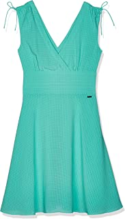 ARMANI EXCHANGE RUCHED DETAIL FIT-AND-FLARE DRESS FOR WOMEN - 3ZYA30 YNCSZ