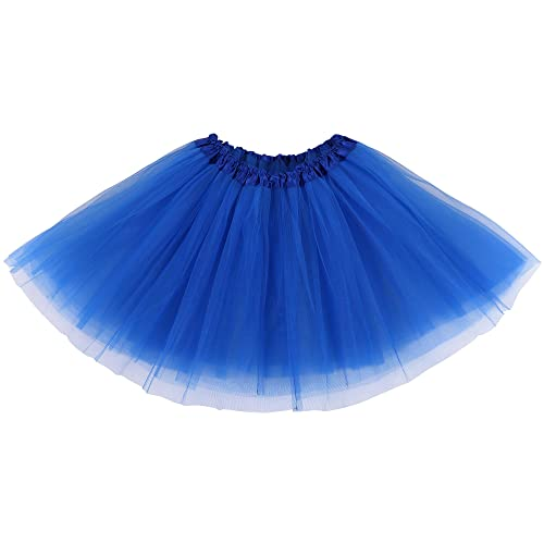d55049828 Simplicity Women's Classic Elastic 3 or 4 Layered Tulle Tutu Skirt
