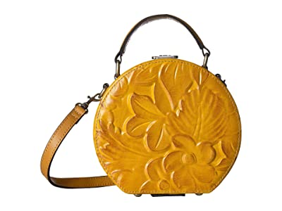 Patricia Nash Allier Hat Box (Yellow) Handbags