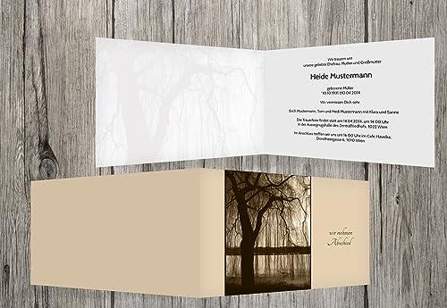 cómodamente Tarjeta de luto árbol, beige, beige, beige, 100 Karten  envío rápido en todo el mundo