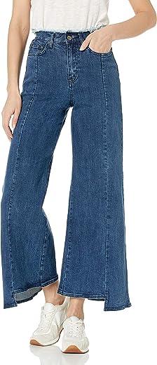 بنطال جينز حريمي ضيق بأرجل واسعة من EVIDNT