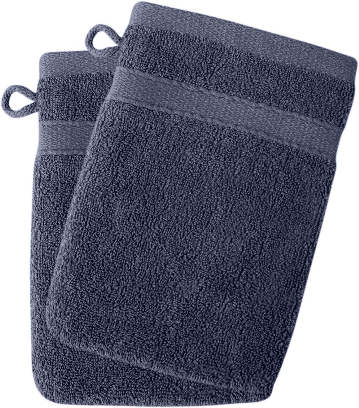 Set di 2 Guanti da Bagno 16 x 21 cm Set da 2 Titre Morbidi e assorbenti 500 g//m2 100/% Cotone Bianco ecologici Senza Prodotti chimici Oeko-Tex 2 Guanti da Bagno SOHYGGE