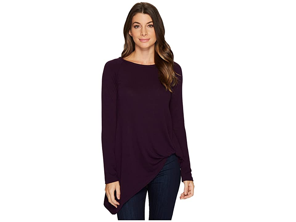 Karen Kane Asymmetric Pick Up Sweater (Eggplant) Women