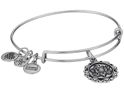 Alex and Ani Lotus Peace Petals IV Bangle (Rafaelian Silver) Bracelet