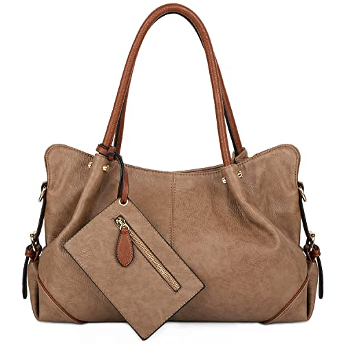 ed8468d4c5ce2 UTO Women Hobo Purse 3 Pieces Handbag Set PU Leather Tote Bag Satchel  Shoulder Bags with