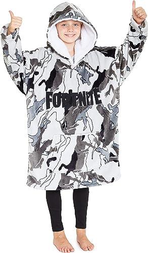 Fortnite Hoodie for Boys, Oversized Hoodie Sweatshirt Blanket, Super Soft Fleece Dressing Gown, Warm Comfortable Hood...