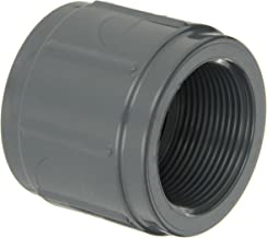 GF Piping Systems PVC Pipe Fitting, Coupling, Schedule 80, Gray, 1